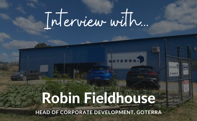 Interview with Robin Fieldhouse, Goterra