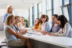 Female Founders At A Workshop Or Event